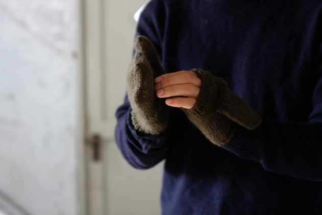 カバーを外した手袋の様子