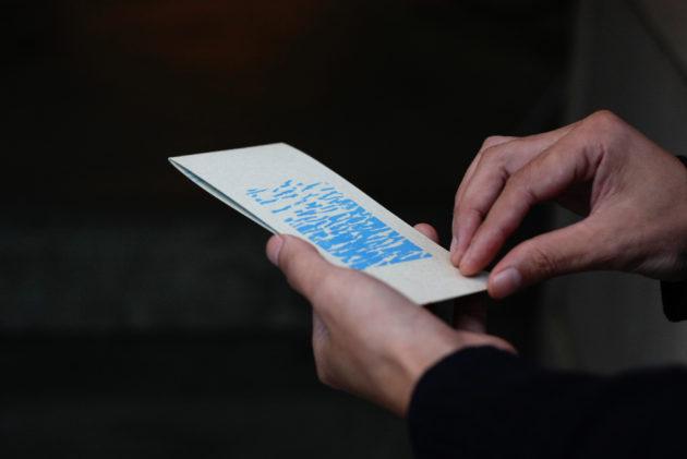 ウェディングの招待状の表紙