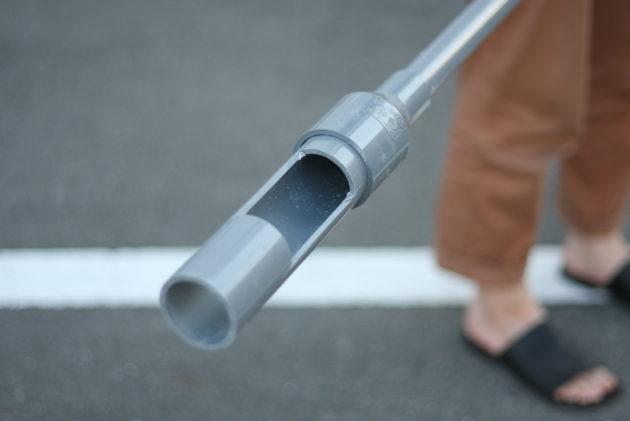 手掘り井戸の道具の加工